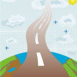 The road to the clouds — Stock Photo #3193075