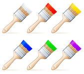 Paint brushes. — Stock Vector