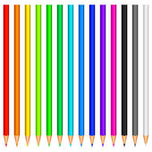 Colour pencils. — Stock Vector