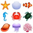 Royalty-Free Stock Vector: Sea animals.