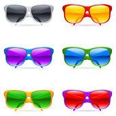 Sunglasses set. — Stock Vector
