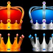Vector de stock : Crowns.