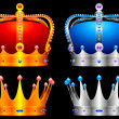 Stock Vector: Crowns.