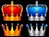 Crowns. — Vettoriale Stock