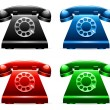 Royalty-Free Stock Vector Image: Retro telephones.