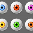 Human eyeballs. - Stock Vector