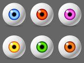 Human eyeballs. — Stock Vector