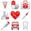 Stock Vector: Medical icons.