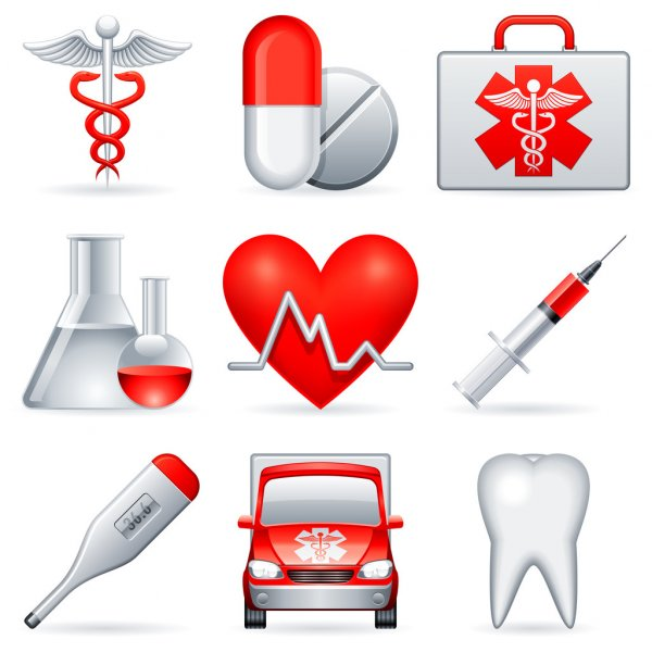 Medical icons. — Stock Vector #3800338