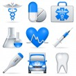 Medical icons. - Stockvectorbeeld