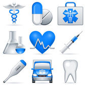 Iconos de medico. — Vector de stock