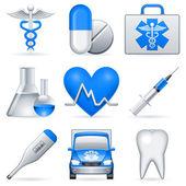 Medicinsk ikoner. — Stockvektor