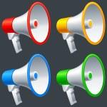Megaphones. — Stock Vector