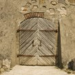 Door in the ancient building — Stock Photo