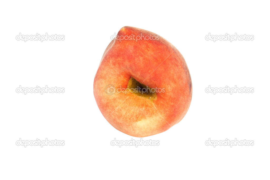 Ugly peach isolated on white background  Stock Photo #3461401