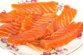 Sliced salmon — Stock Photo