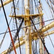 Mast and guy cables of sailing vessel — Stock Photo