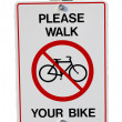 Please walk your bike — ストック写真