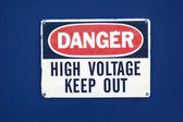 High voltage keep out — Stock Photo
