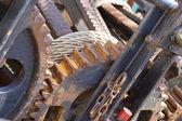 Gears of ancient mechanism — Stockfoto