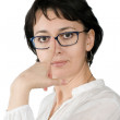 Woman in glasses - Stock Photo