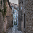 Ancient lane in Croatia — Stock Photo