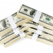 Stock Photo: Isolated Stacks of Money