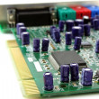 Sound card for computer. Shallow DOF. - Zdjęcie stockowe