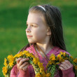Young girl in summer day. - Stock Photo