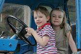 At the wheel. — Stock Photo