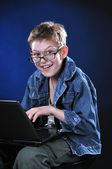 Mad Young Hacker — Stock Photo