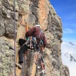 Climber on a route - Foto de Stock