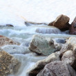 Purely clean mountain stream — Stockfoto