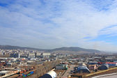 промышленный район города — Стоковое фото