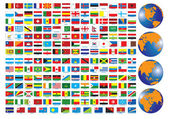 Banderas — Vector de stock