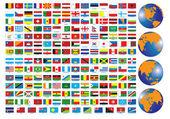 Bandiere — Vettoriale Stock