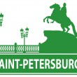 Stock Vector: Saint-Petersburg outline