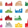Symbols european city — Vector de stock