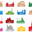 Stock Vector: Symbols european city