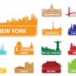 Stock Vector: Symbols city