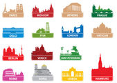 Symbols european city — Stock Vector