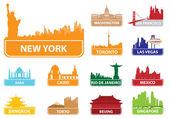 Symbols city — Stock Vector