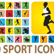 Sport icons — Vector de stock