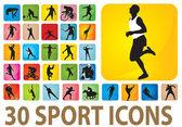 Icônes de sport — Vecteur