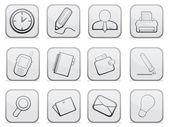 Gray buttons — Stock Vector