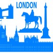 Stock Vector: London skyline