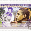 Stock Photo: Stamp with 45th president of US- Barack Obama