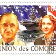 Union des Comores stamp 2008 year with Harry and Bess Trumans — Stock Photo