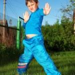Karate kid — Stock Photo