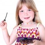 Постер, плакат: Small girl with liquid mascara